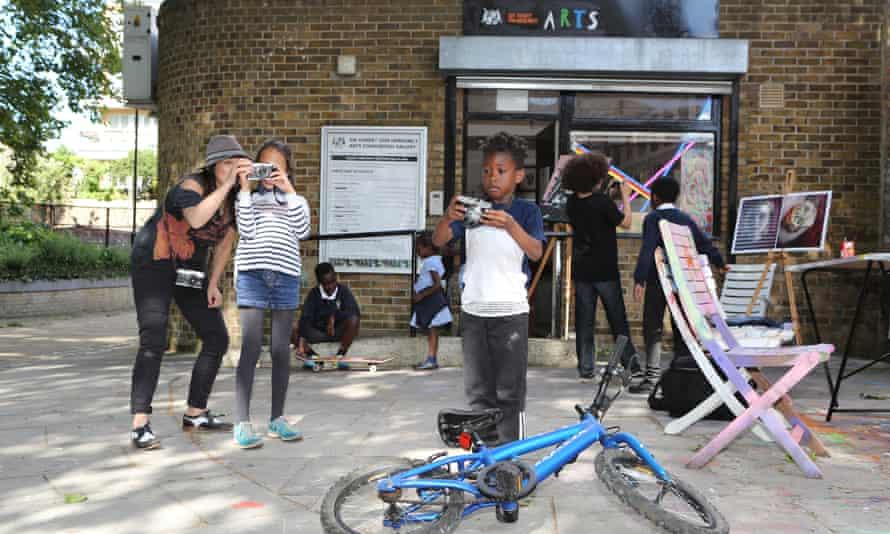 The Sir Hubert Von Herkomer pop-up community project runs art and photography workshops for children in Camden, London.