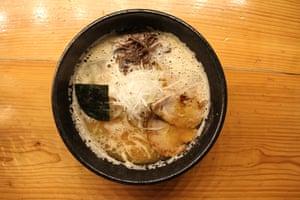 A ramen dish from Mengekijo Genei in Fukuoka