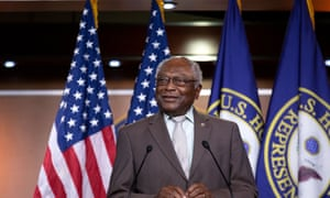 United States House Assistant Democratic Leader James Clyburn (Democrat of South Carolina) speaks during a news conference where Democratic lawmakers called for the removal of confederate monuments at the Capitol in Washington on 22 July.