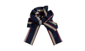 Liars & Lovers striped bow scrunchie
