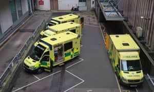 Ambulances at Bristol Royal Infirmary