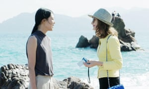 Kim Min-hee and Isabelle Huppert in Claire's Camera.