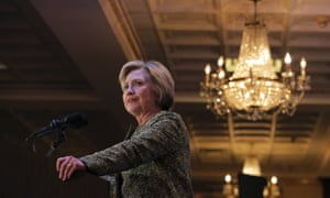 Presidential candidate Hillary Clinton speaks at the Suffolk County Democratic committee's annual spring dinner in Holbrook, New York.