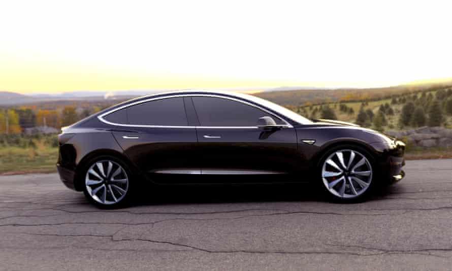 Tesla Model 3 electric car.