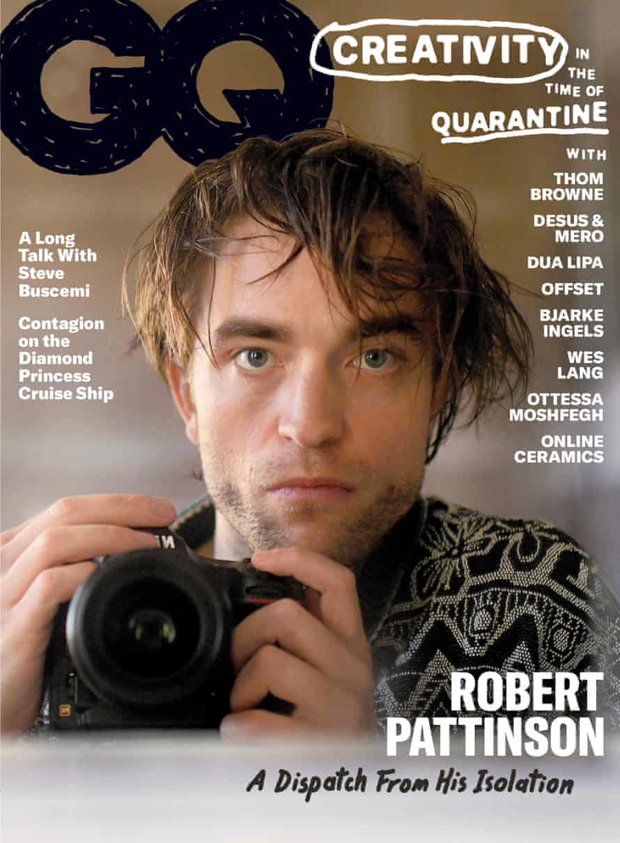 Robert Pattinson on the cover of US GQ