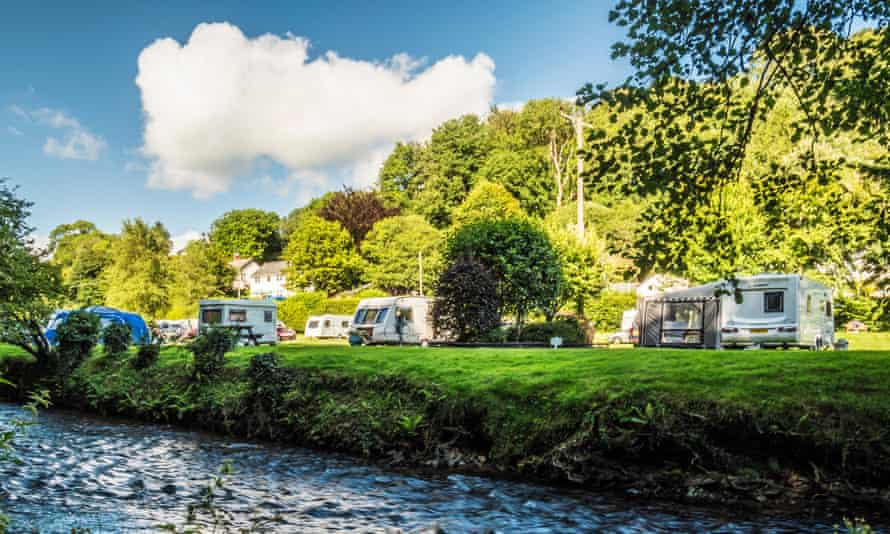 A small caravan site in Somerset