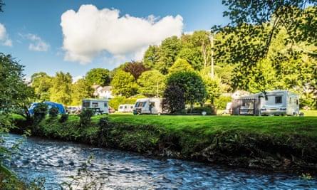 A caravan site in Somerset.