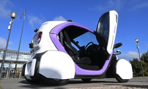 An autonomous self-driving vehicle