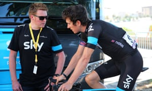 Rod Ellingworth (left), who helped launch the career  of Geraint Thomas, is set to leave Team Ineos for  Bahrain-Merida at the end of the season.