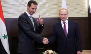 Assad and Vladimir Putin in Russia, November 2017