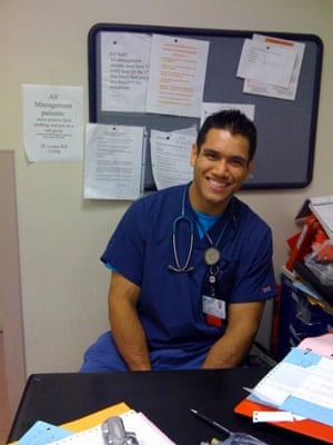 Phillipe Nover at work as a nurse