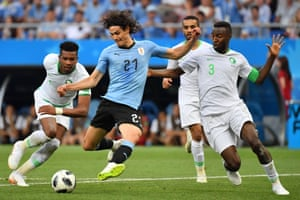 Uruguay's Edinson Cavani shoots