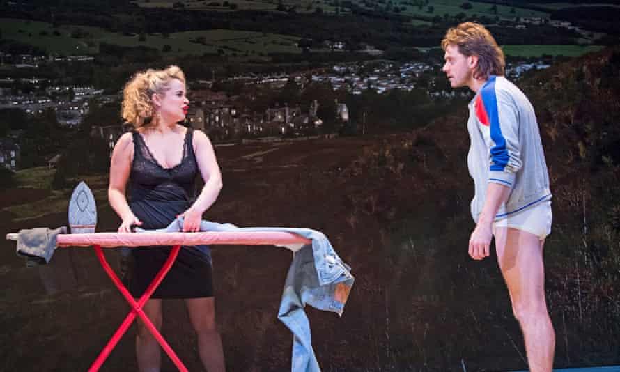 Samantha Robinson as Michelle with Atherton as Bob.