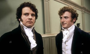 Colin Firth, left, as Mr Darcy, an epitome of British cool.