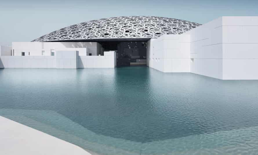 Louvre Abu Dhabi with its 180-metre-diameter dome.