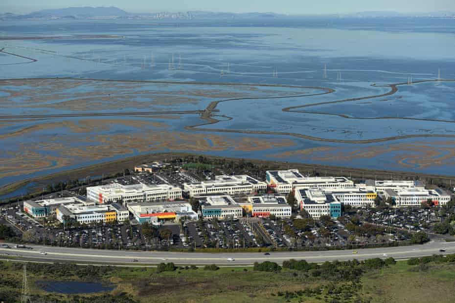 Facebook's campus on the edge of the San Francisco Bay in Menlo Park, California.