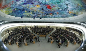 A session of the Human Rights Council at the United Nations in Geneva, Switzerland earlier this month.
