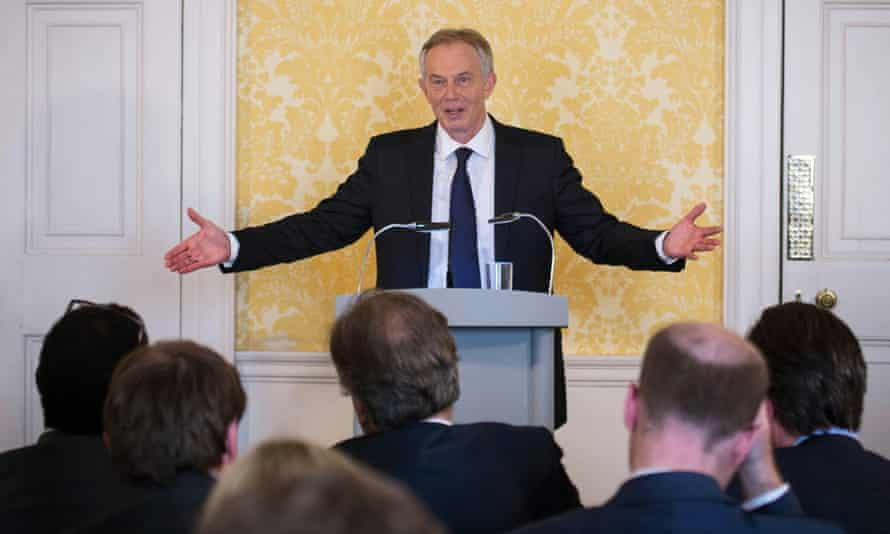 Tony Blair at a press conference at Admiralty House, responding to the report of the Chilcot inquiry.