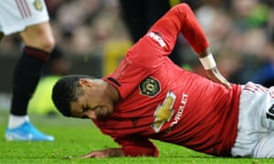 Marcus Rashford was hurt after coming on for Manchester United against Wolves in the FA Cup.