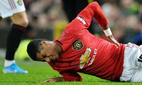 Marcus Rashford Posts Upbeat Tweet Signalling Return Before End Of Season Marcus Rashford The Guardian