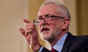 Jeremy Corbyn gives a speech in Hastings