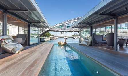 Paris has got a brand new floating hotel - complete with gold swan
