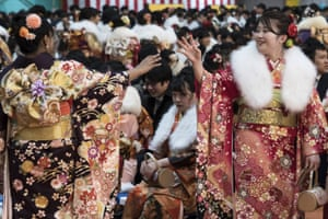 About 1.22 million people in Japan come of age this year, according to the government