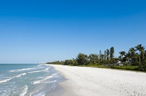 Naples Beach in Florida. Only one-third of the state's potential visitors feel comfortable traveling to Florida now.