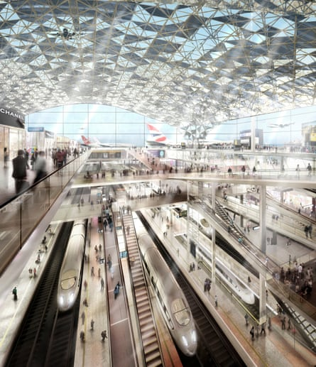 Foster's proposed design for the Thames Hub airport.