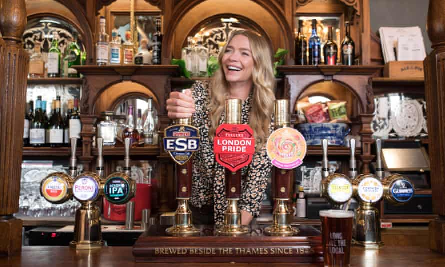 Jodie Kidd, the model, at The Red Lion in Westminster, the Chancellor's local.