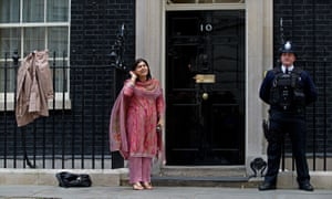sayeeda warsi outside no 10 downing street in may 2010