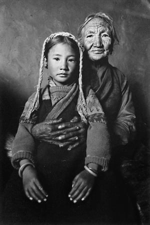 Girl with her grandmother. Tibet, 2001 from 'The Four Seasons'