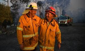 NSW Rural Fire Service volunteers