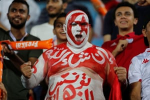 A Tunisia fan before the match.