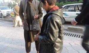 Street children in Kabul.