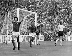 Italy beat West Germany 3-1 in the final, with Rossi netting the second goal.