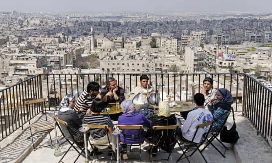 Young people in Aleppo