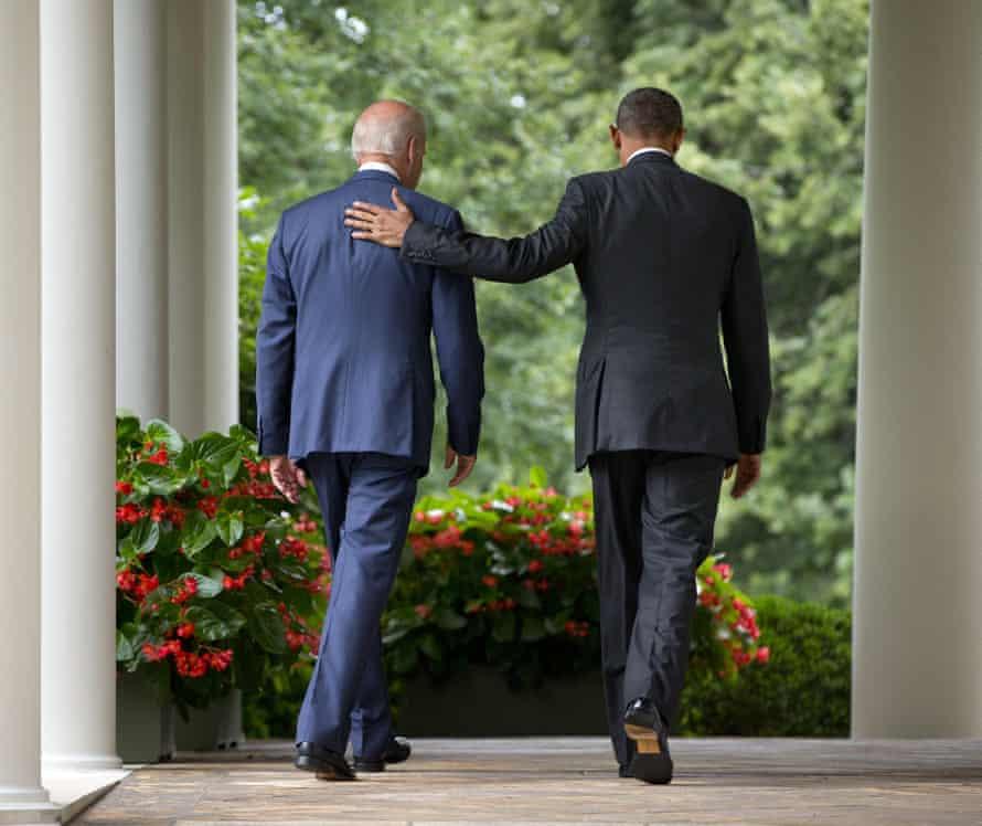 Joe Biden's role as vice-president to Barack Obama is seen as model for Harris.