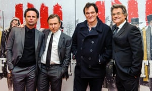 Quentin Tarantino with his cast at The Hateful Eight's London premiere.