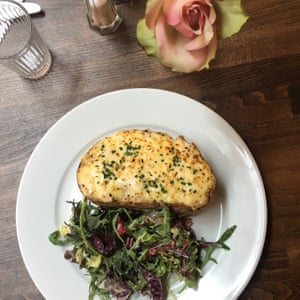 Croque monsieur is a lunch-menu staple at Bistro Lotte, Frome, Somerset, UK.