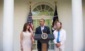 Berghdahl's parents w/ Obama