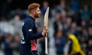 Jonny Bairstow walks off at Lord's having scored 72 from 44 balls in England's series-sealing 85-run win over Ireland.