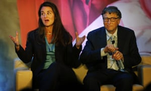 Melinda and Bill Gates at a foundation event in New Delhi, India