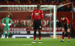 Manchester United's Paul Pogba during the derby defeat to City.