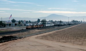 Bakersfield, California. Emissions from agriculture, industry, rail freight and road traffic together create one of the US's worst concentrations of air pollution. For cities
