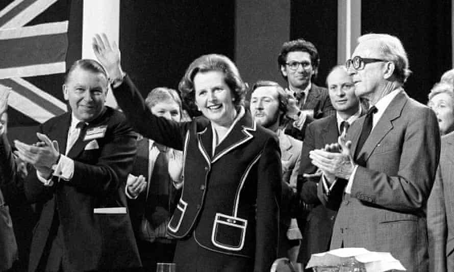 Margaret Thatcher at the Tory party conference in Blackpool, 1979
