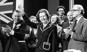 Lord Carrington, right, and Margaret Thatcher at the Conservative party conference in Blackpool in 1979.