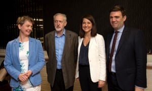 Labour leadership candidates (left to right) Yvette Cooper, Jeremy Corbyn, Liz Kendall and Andy Burnham pose for a picture before the Radio 5 Live leadership hustings.