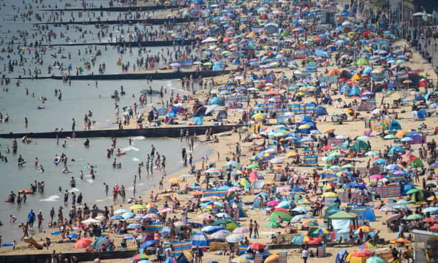 Bournemouth beach was said to be at 'red alert' on Friday.