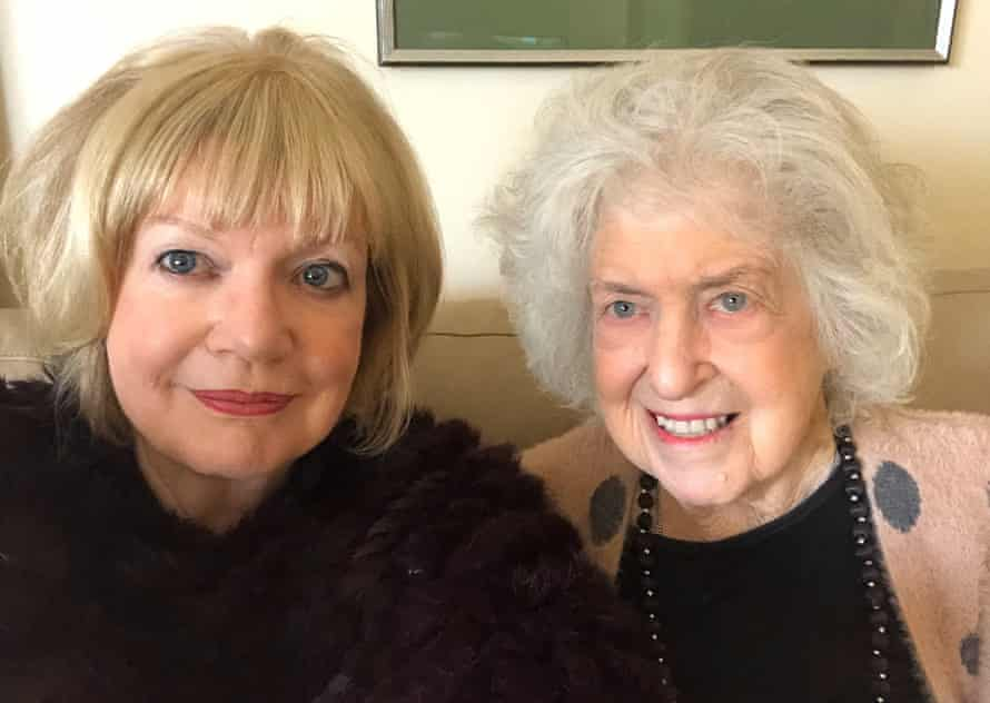 Franki Birrell and her mother at home together.